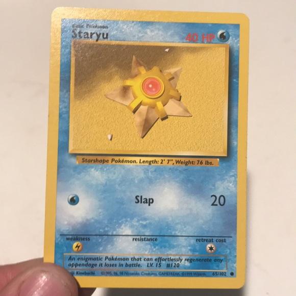 Staryu Pokemon card (Base set)